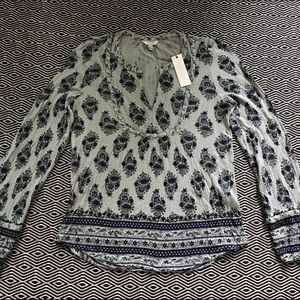Lucky Brand Boho blouse Medium